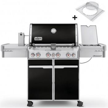 WEBER SUMMIT E-470 GBS BLACK BARBECUE + COVER