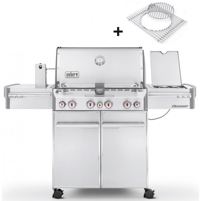 WEBER SUMMIT S-470 GBS STAINLESS STEEL BARBECUE + COVER