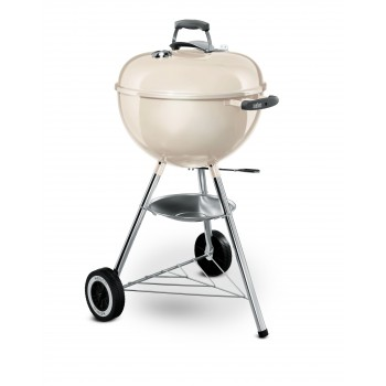 WEBER  ORIGINAL KETTLE 47 cm BARBECUE IVORY WHITE