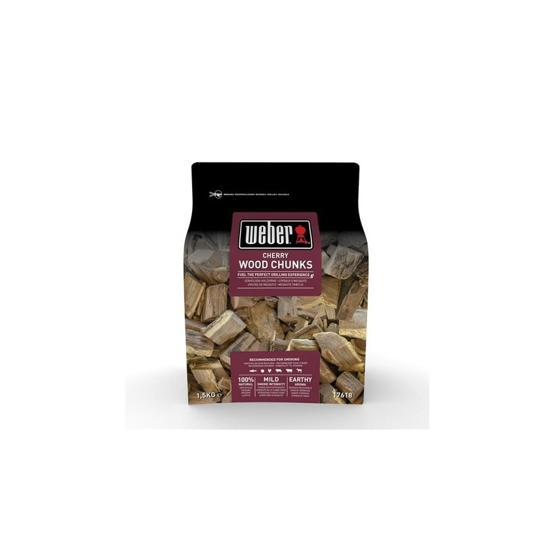 CHERRY WOOD CHUNKS FOR SMOKING
