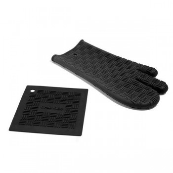 SILICON GRILL MITT AND TRIVET BROIL KING