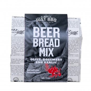 BEER BREAD MIX OLIVE, ROSEMARY & GARLIC 500g NOT JUST BBQ