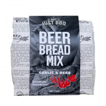 NOT JUST BBQ BEER BREAD MIX HERBS & GARLIC