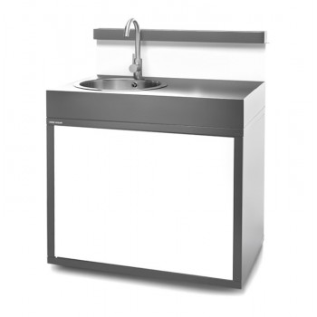 Steel closed sink support – matt anthracite grey and white Forge Adour