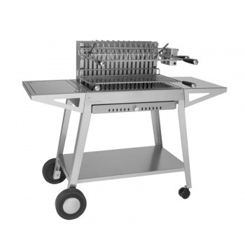 GRILL TROLLEY CHGI 66 IN INOX FOR BUILT-IN STAINLESS STEEL GRILL 918.66 AND 961.66 FORGE ADOUR