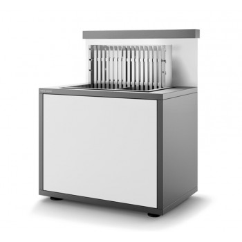 STEEL CLOSED GRILL SUPPORT SGAF 66 GB MATT ANTHRACITE GREY AND WHITE FOR BUILT-IN STEEL GRILL 918.66 AND 961.66 FORGE ADOUR