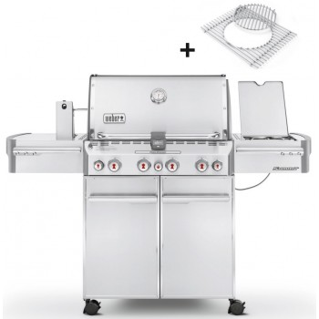 BARBECUE WEBER SUMMIT S-470 GBS INOX + HOUSSE