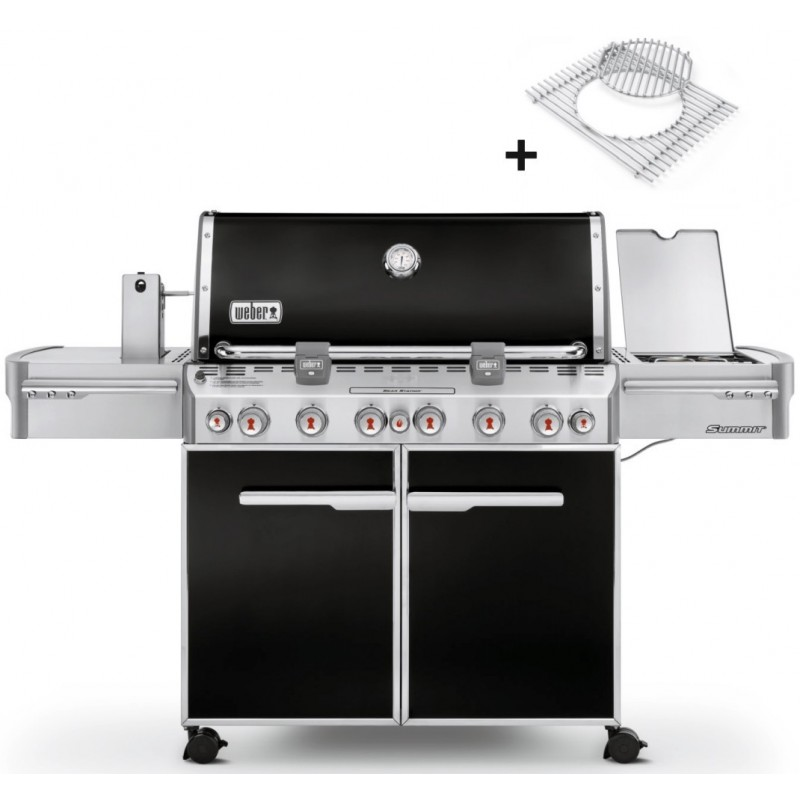 WEBER SUMMIT E-670 GBS BLACK BARBECUE + COVER