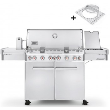 WEBER SUMMIT S-670 STAINLESS STEEL BARBECUE + COVER