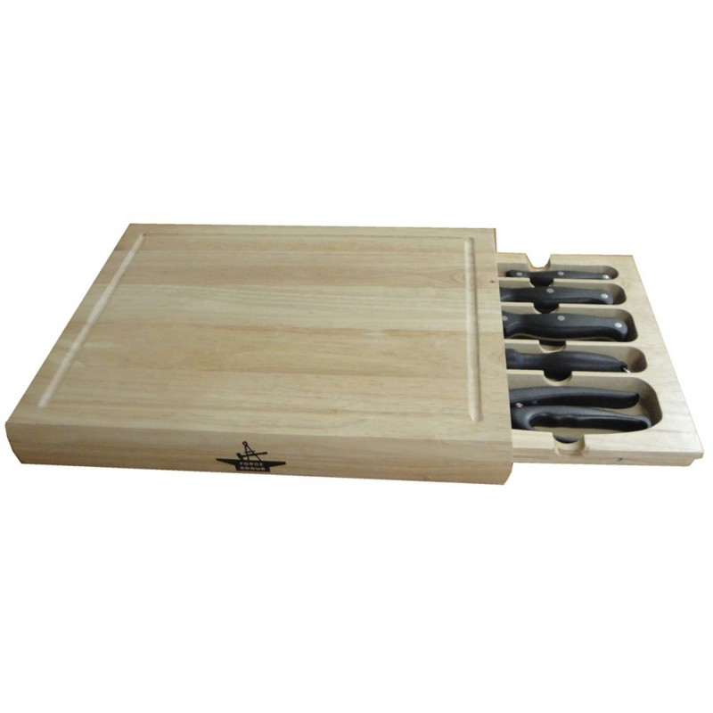 CHOPPING BOARD WITH KNIVES FORGE ADOUR