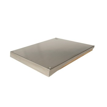INOX COVER FOR  PLANCHA INDOOR WITH CUTTING BOARD FORGE ADOUR
