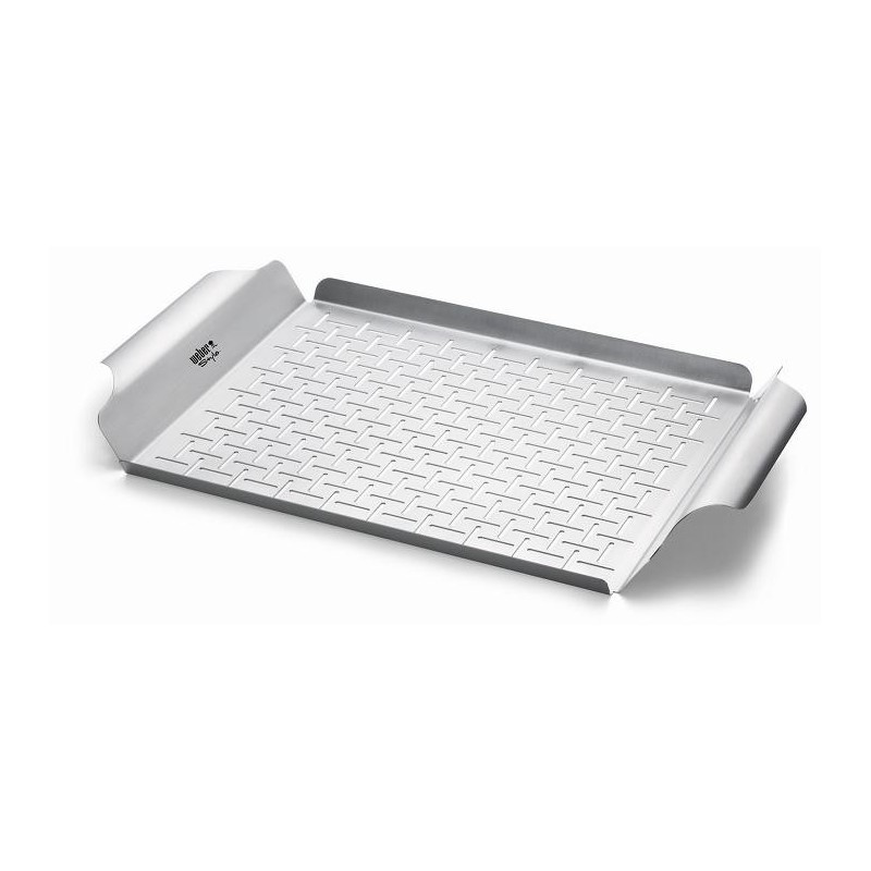 STAINLESS STEEL RECTANGULAR GRILL PAN WEBER STYLE