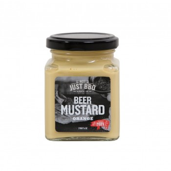 NOT JUST BBQ BEER MUSTARD ORANGE