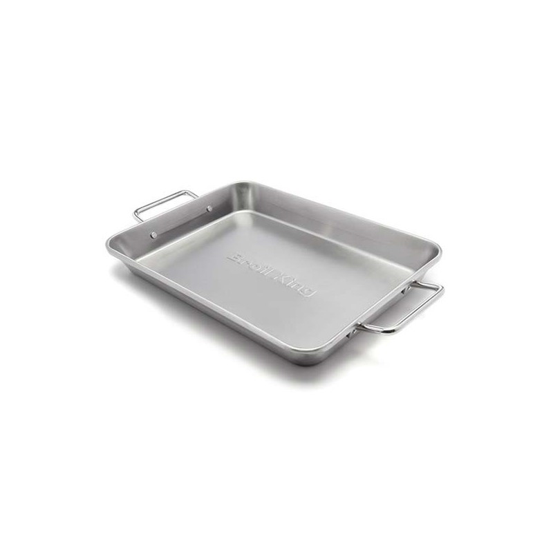 STAINLESS ROASTING PAN BROIL KING