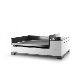 PREMIUM 45 GAS PLANCHA FORGE ADOUR CHASSIS WHITE ENAMELLED STEEL