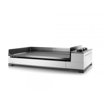 PREMIUM 75 GAS PLANCHA FORGE ADOUR CHASSIS WHITE ENAMELLED STEEL