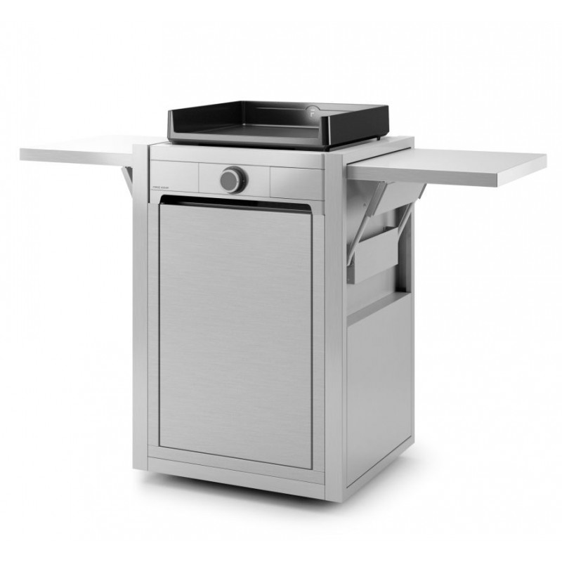 CLOSED TROLLEY IN INOX FOR PLANCHA MODERN 45 FORGE ADOUR
