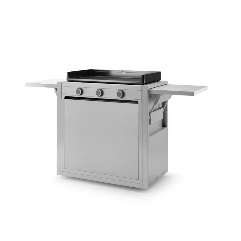 CLOSED TROLLEY INOX FOR PLANCHA MODERN 75 FORGE ADOUR