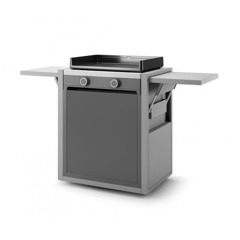 CLOSED TROLLEY IN STEEL FOR PLANCHA MODERN 60 FORGE ADOUR
