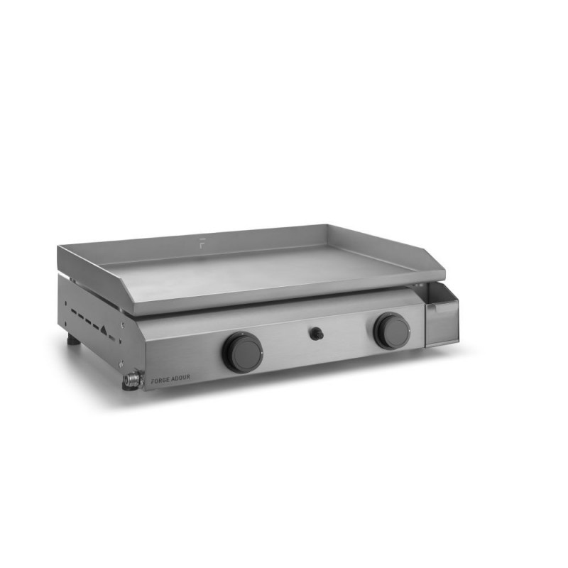 PLANCHA FORGE ADOUR BASE GAS 60 CHASSIS AND COOKING HOB INOX