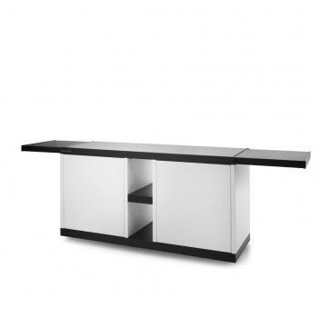 Steel mobile table for plancha series COMBI G / COMBI P Forge Adour