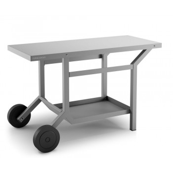 Steel mobile table – matt anthracite grey for plancha Forge Adour
