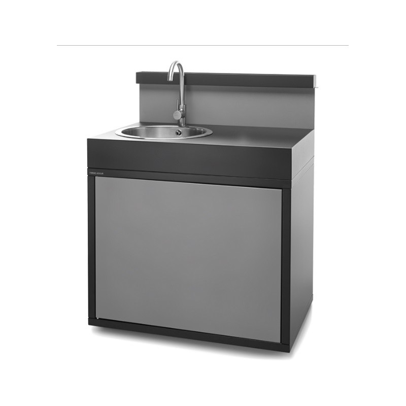 Steel closed sink support – matt black and light grey Forge Adour
