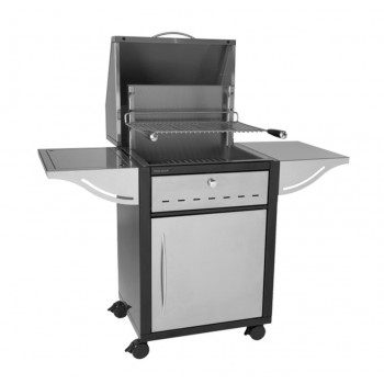 CLOSED MOBILE UNIT TRGIAF 56 IN STEEL + HOOD FOR BUILT-IN STAINLESS STEEL GRILL 918.56 AND 961.56 FORGE ADOUR
