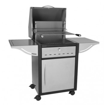 CLOSED MOBILE UNIT TRGIAF 66 IN STEEL + HOOD FOR BUILT-IN STAINLESS STEEL GRILL 918.66 AND 961.66 FORGE ADOUR