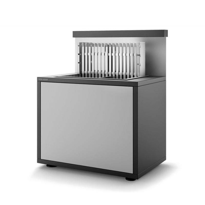 Soporte SGAF 66 NG de acero cerrado negro y gris claro mate para grills inox encastrables 918.56 y 961.56 Forge Adour