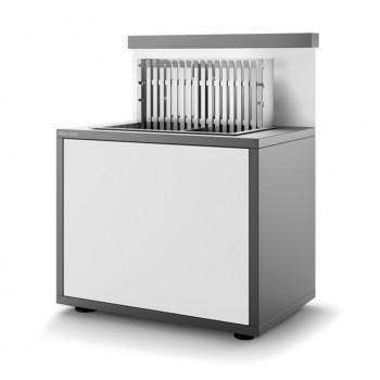 Soporte SGAF 56 GB de acero cerrado en gris antracita y blanco mate para grills inox encastrables 918.56 y 961.56 Forge Adour