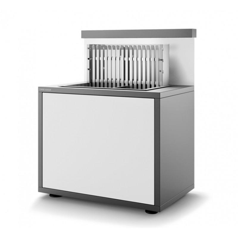 Soporte SGAF 66 GB de acero cerrado en gris antracita y blanco mate para grills inox encastrables 918.6 y 961.66 Forge Adour
