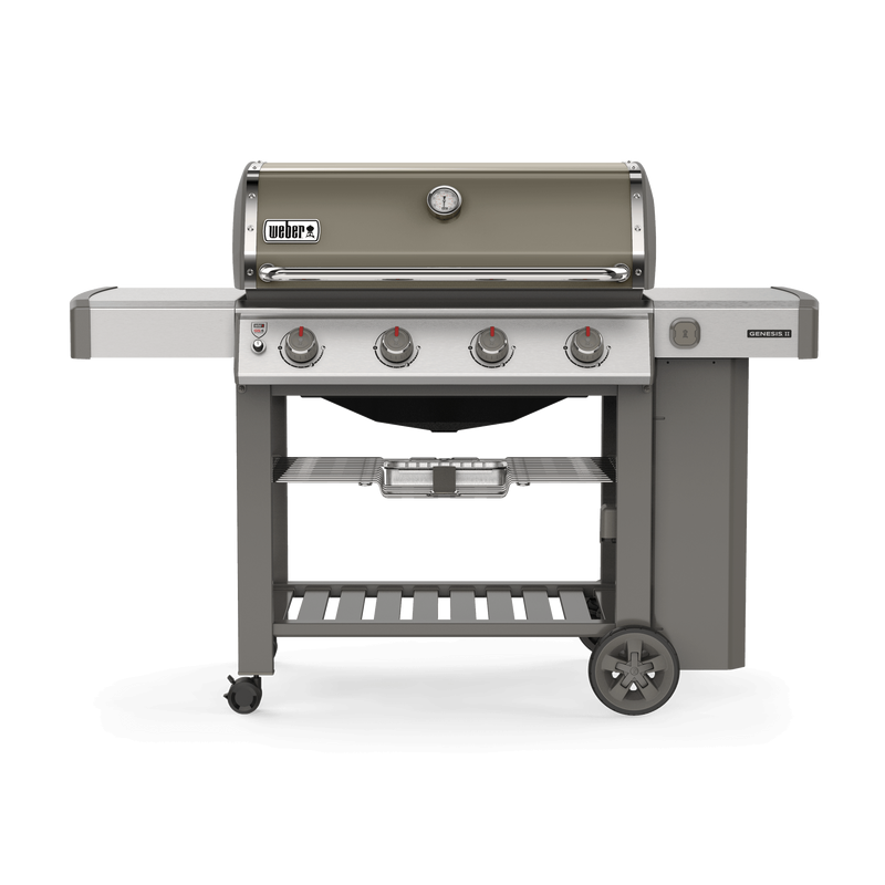 Weber Genesis II E 410 GBS Smoke Grey Gas Barbecue   Natural