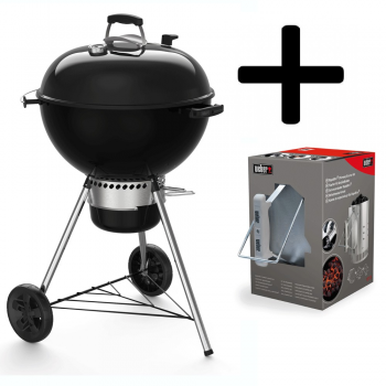BARBACOA WEBER MASTER-TOUCH GBS E-5750 BLACK 57cm + KIT DE CHIMENEA