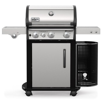 WEBER SPIRIT PREMIUM SP-335 INOX GBS BARBECUE WITH SIDE BURNER