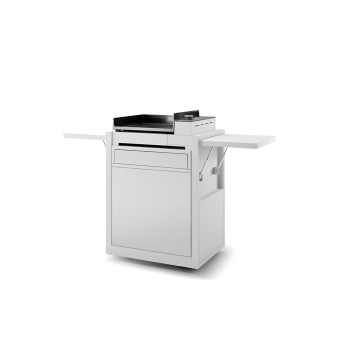 WHITE ENAMELLED STEEL CLOSED TROLLEY FOR PLANCHA PREMIUM 45 FORGE ADOUR