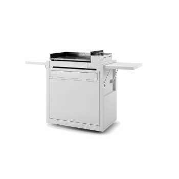 WHITE ENAMELLED STEEL CLOSED TROLLEY  FOR PLANCHA PREMIUM 60 FORGE ADOUR