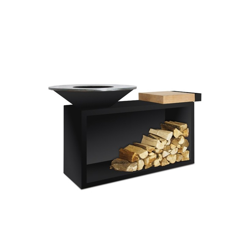 BARBECUE OFYR ISLAND TEAK WOOD BLACK OIB-85-TW
