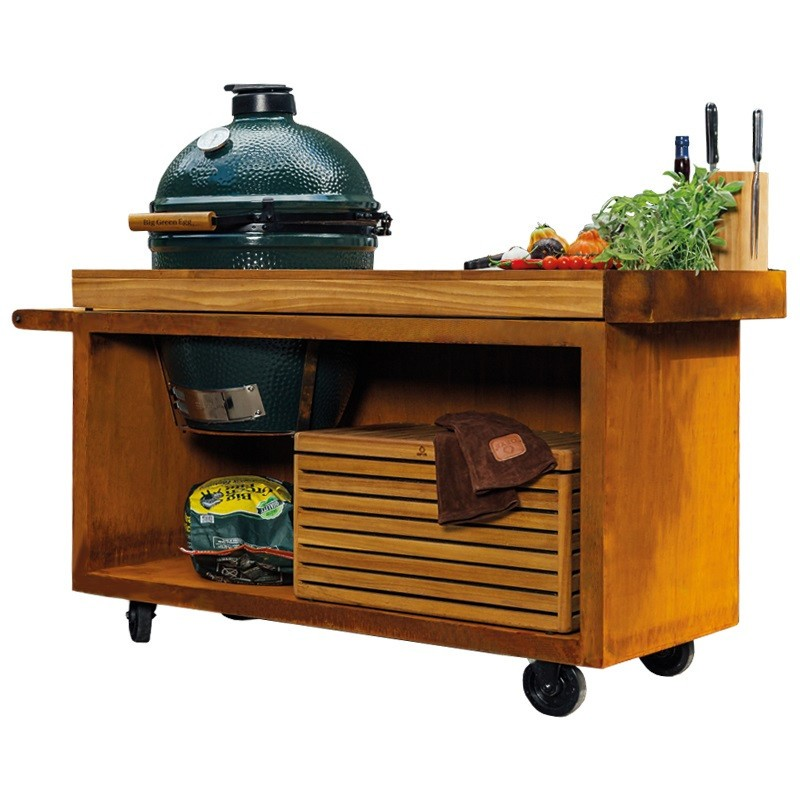 OFYR TEAK TABLE PRO FOR BIG GREEN EGG