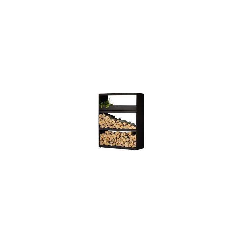 WOOD STORAGE CABINET OFYR WITH 3 SHELVES BLACK WSB-C
