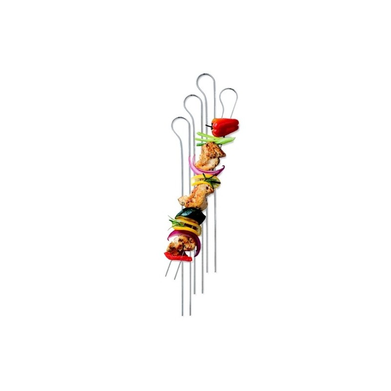 SET OF 8 WEBER DOUBLE PRONGED SKEWERS