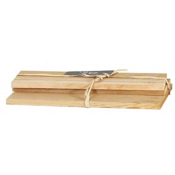 SET OF 3 CEDAR WOOD PLANKS OFYR