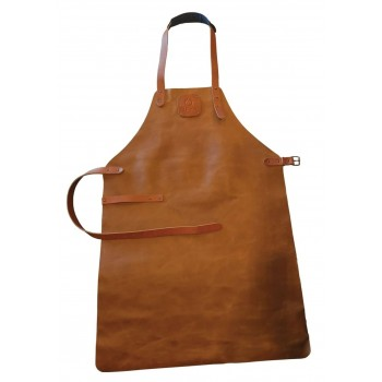 LEATHER APRON BROWN OFYR