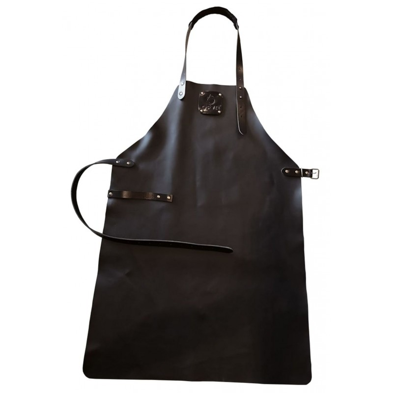 LEATHER APRON BLACK OFYR