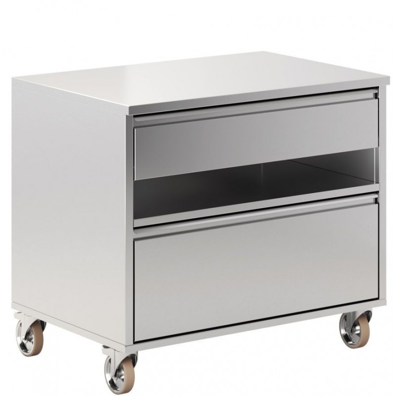 CABINET WITH 2 DRAWERS AND 1 SHELF FOR MASTERGRILL 90 PERTINGER