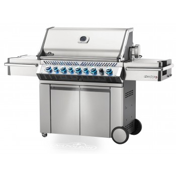 BARBECUE NAPOLEON PRESTIGE PRO 665 WITH INFRARED SIDE AND REAR BURNERS STAINLESS STEEL