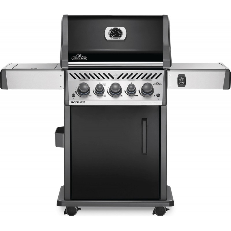 BARBECUE NAPOLEON ROGUE SE 425 WITH INFRARED SIDE AND REAR BURNERS + ROTISSERIE SET BLACK