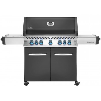 BARBECUE NAPOLEON PRESTIGE 665 WITH INFRARED SIDE AND REAR BURNERS ANTHRACITE GREY