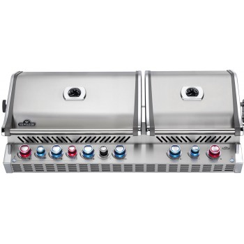 BUILT-IN BARBECUE NAPOLEON PRESTIGE PRO 825 WITH INFRARED REAR & BOTTOM BURNERS STAINLESS STEEL