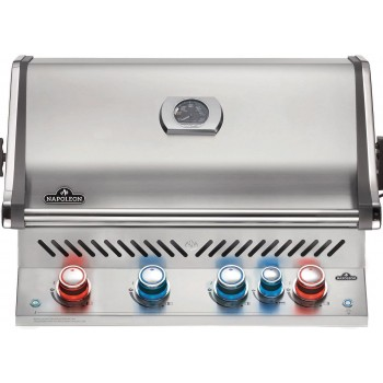 BUILT-IN BARBECUE NAPOLEON PRESTIGE PRO 500 WITH INFRARED REAR BURNER STAINLESS STEEL